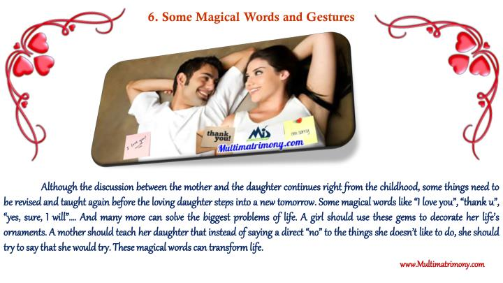6. Some Magical Words and Gestures