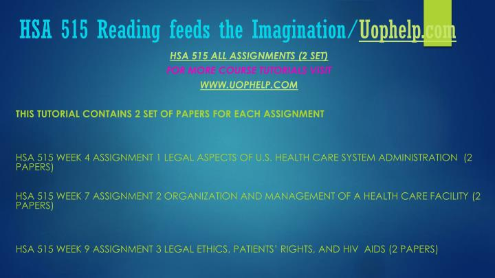 Hsa 515 reading feeds the imagination uophelp com1