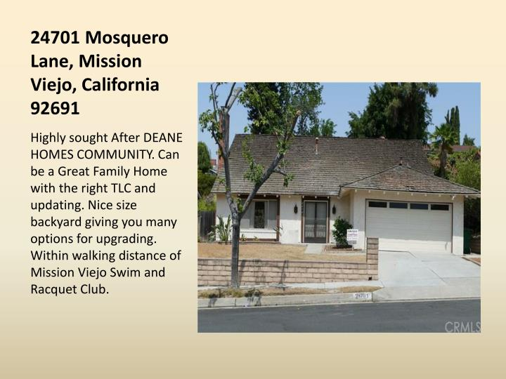 24701 Mosquero Lane, Mission Viejo, California 92691