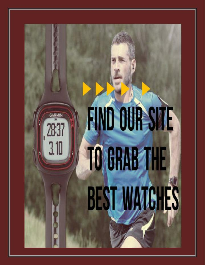Gps running watches fully surrounded with top features