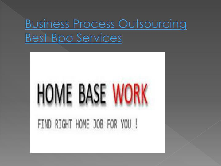 Business Process Outsourcing Best