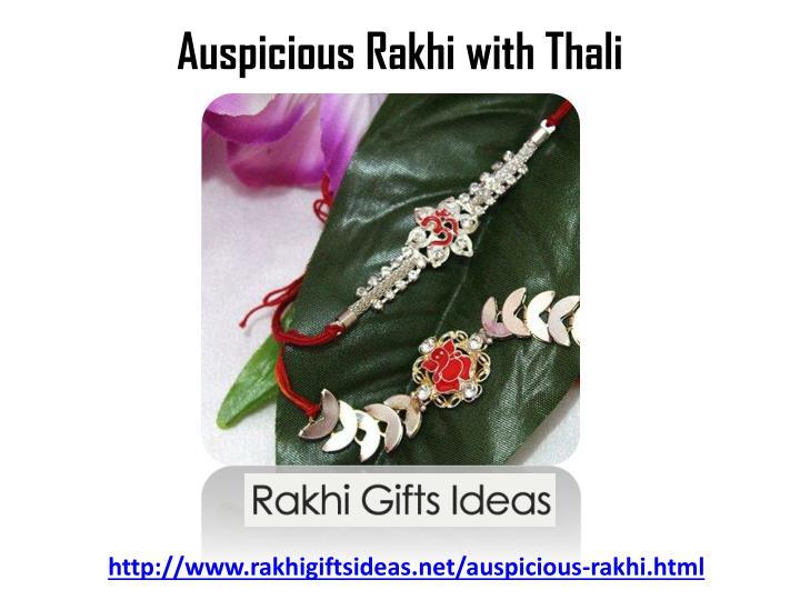 Auspicious Rakhi with Thali