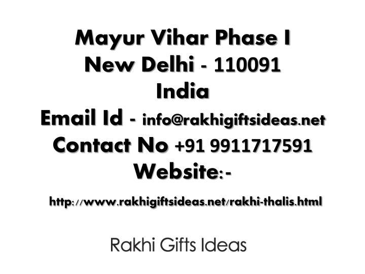 Mayur Vihar Phase I