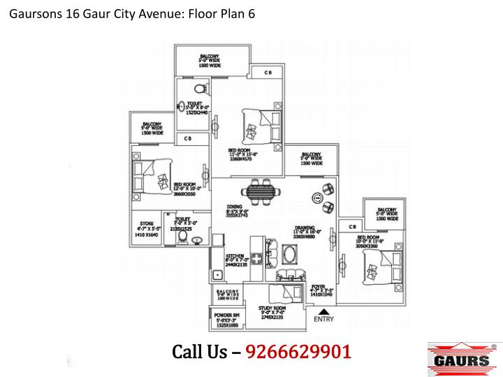Gaursons 16 Gaur City Avenue: Floor Plan 6