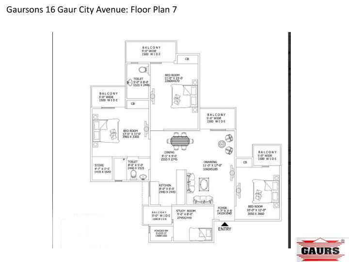 Gaursons 16 Gaur City Avenue: Floor Plan 7