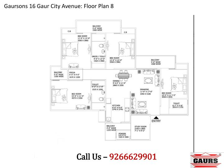Gaursons 16 Gaur City Avenue: Floor Plan 8