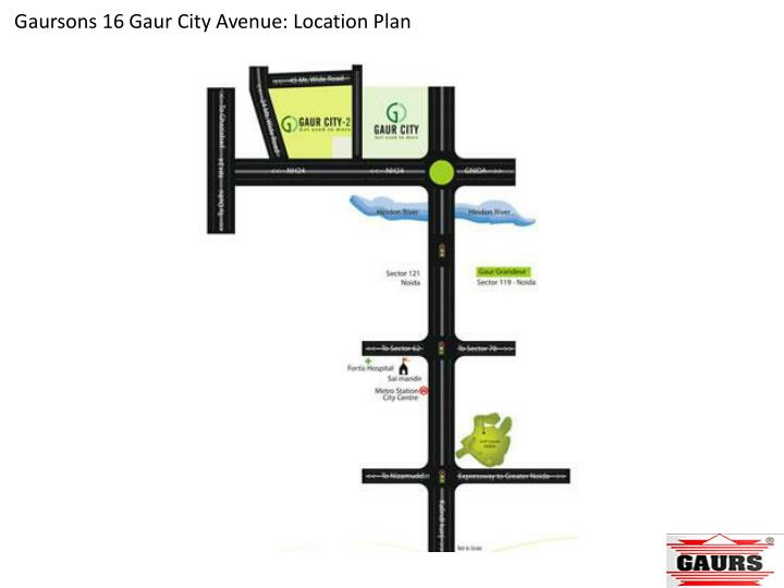 Gaursons 16 Gaur City Avenue: Location Plan