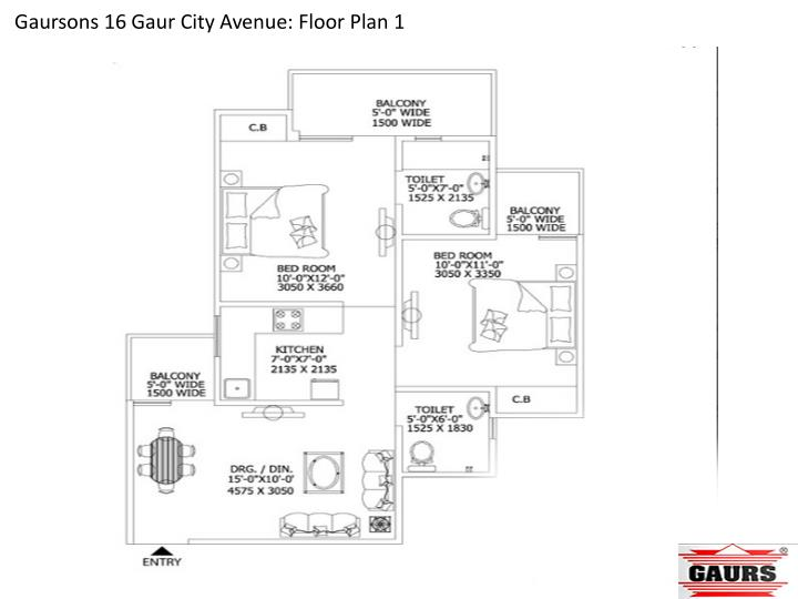 Gaursons 16 Gaur City Avenue: Floor Plan 1