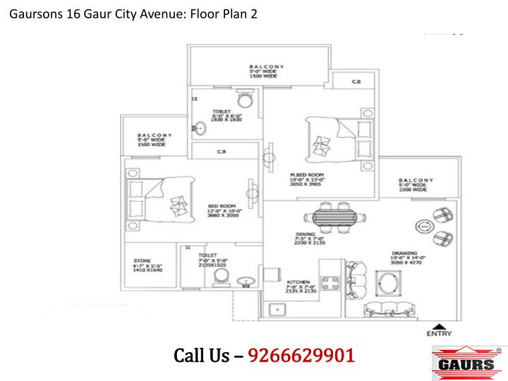Gaursons 16 Gaur City Avenue: Floor Plan 2