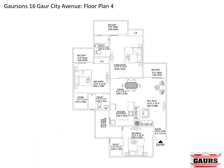 Gaursons 16 Gaur City Avenue: Floor Plan 4