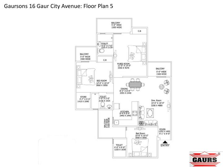 Gaursons 16 Gaur City Avenue: Floor Plan 5