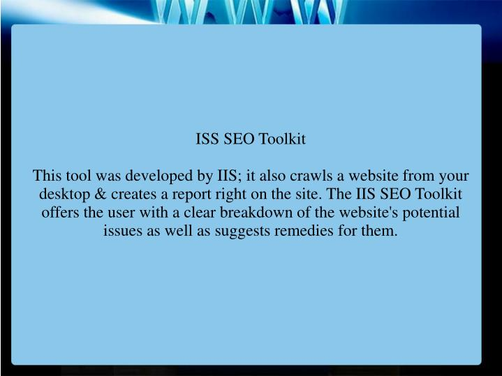 ISS SEO Toolkit