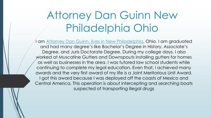 Attorney Dan Guinn New Philadelphia Ohio
