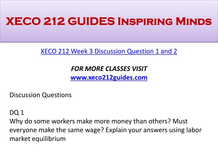 XECO 212 GUIDES Inspiring Minds