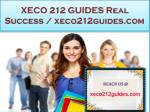 xeco 212 guides real success xeco212guides com