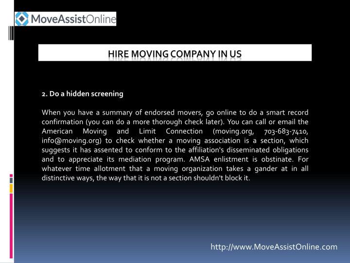 2. Do a hidden screening