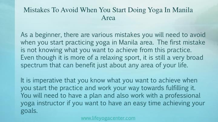 Mistakes to avoid when you start doing yoga in manila area2