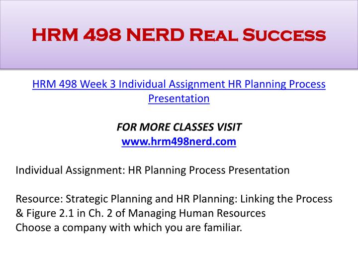 hr planning assignment In short, human resource activities fall under the following five core functions:   group health insurance rates, retirement plans, and other benefits with third party   a set of tasks that fulfills a purpose or duty an assignment set by an employer.