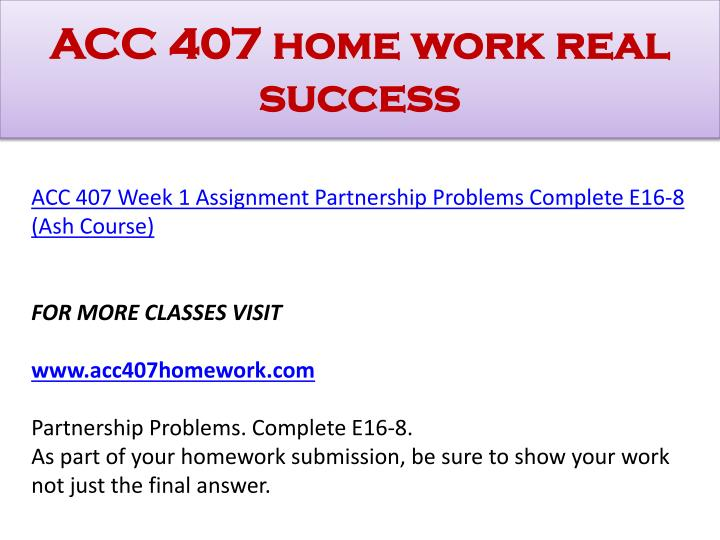 Acc 407 home work real success1