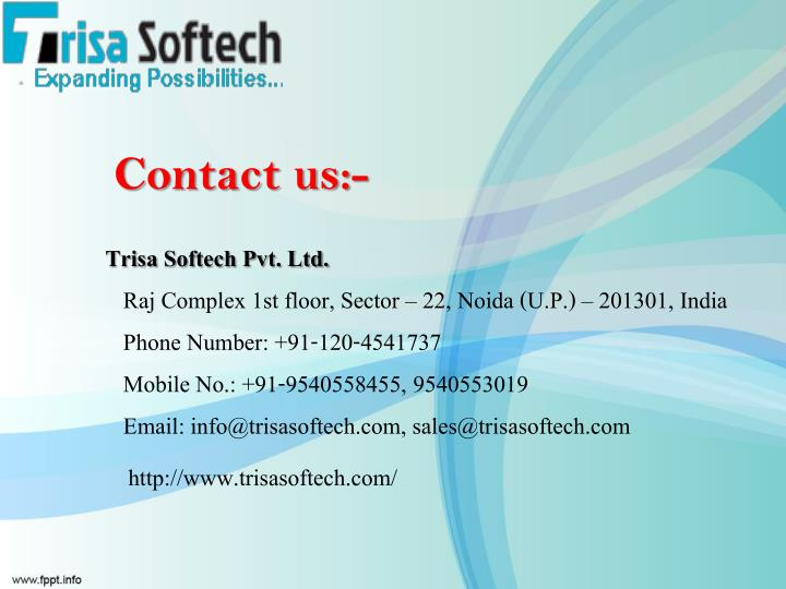 Contact us:-