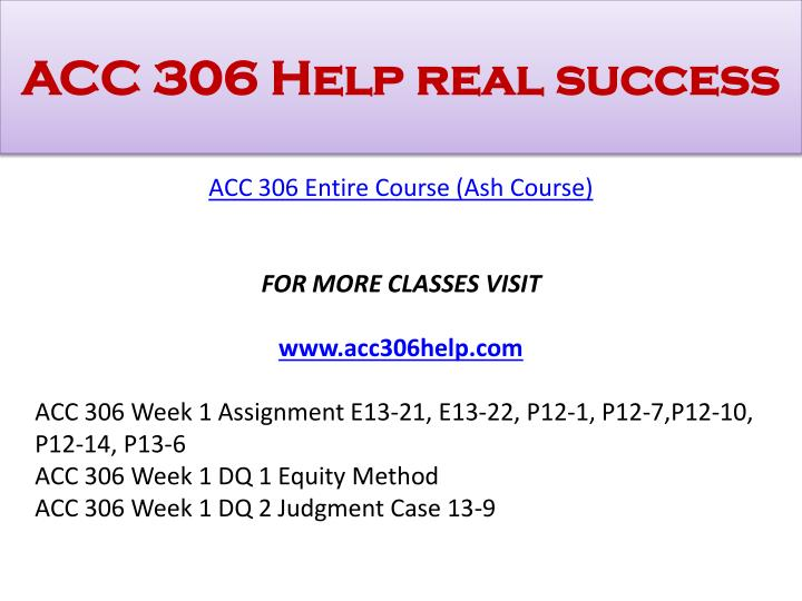 Acc 306 help real success1