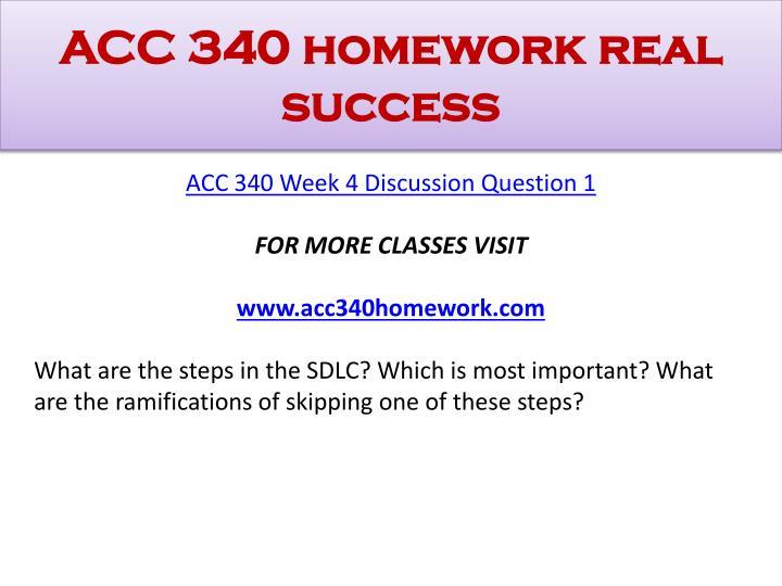 ACC 340 homework real success