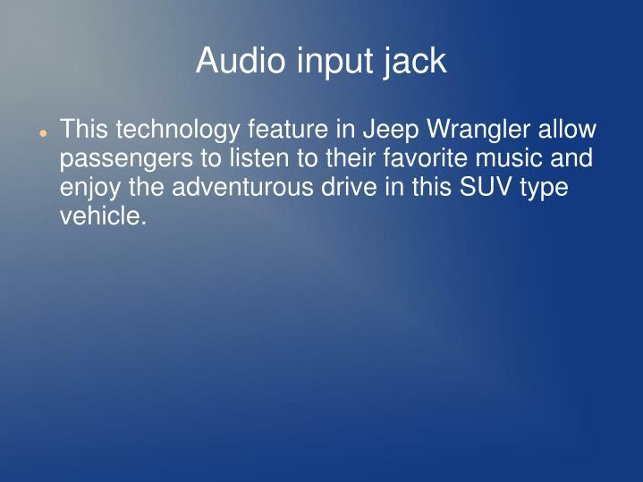 Audio input jack