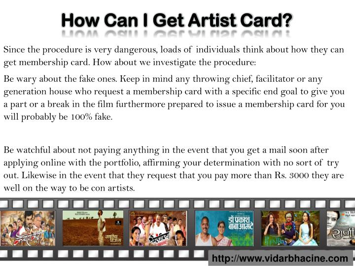 How Can I Get Artist Card?