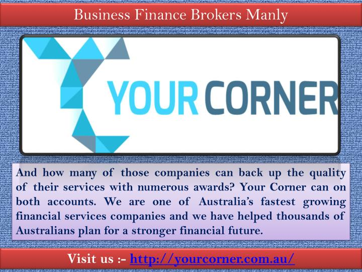 Business Finance Brokers Manly