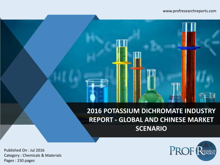 Dichromate industry 2011 2021 market research