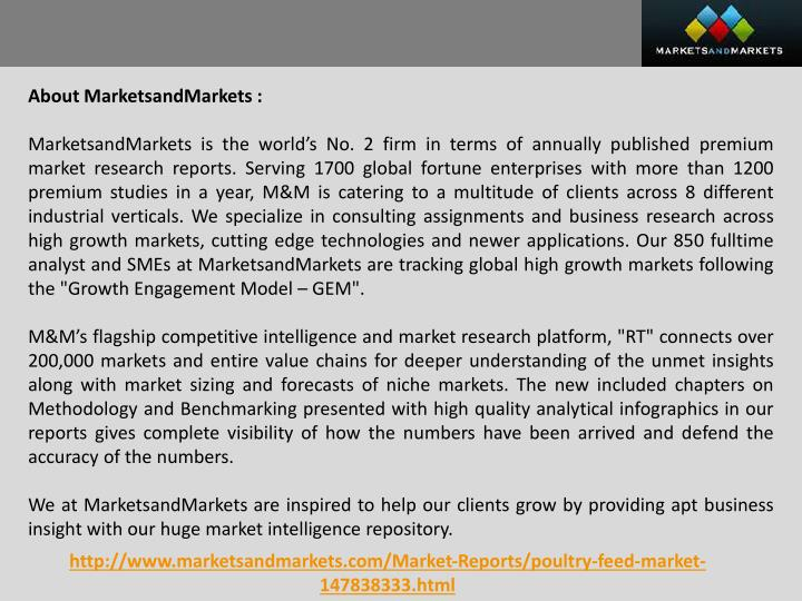 About MarketsandMarkets :