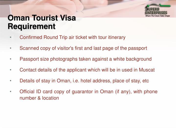 Oman Tourist Visa Requirement