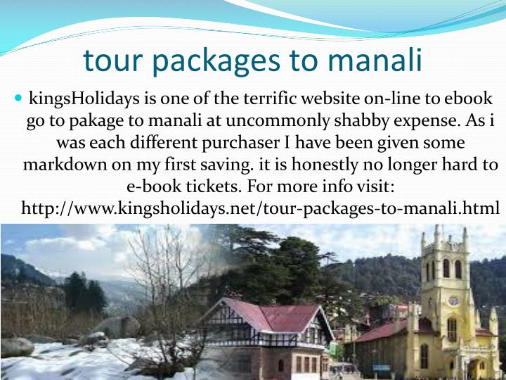tour packages to