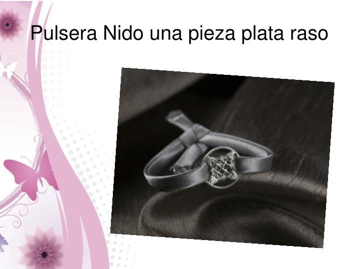 Pulsera Nido una pieza plata raso