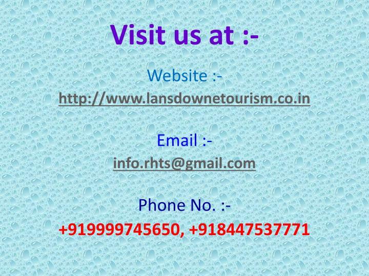 Visit us at :-