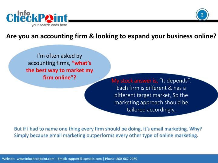 Are you an accounting firm and looking to expand your business online