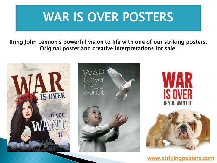 WAR IS OVER POSTERS