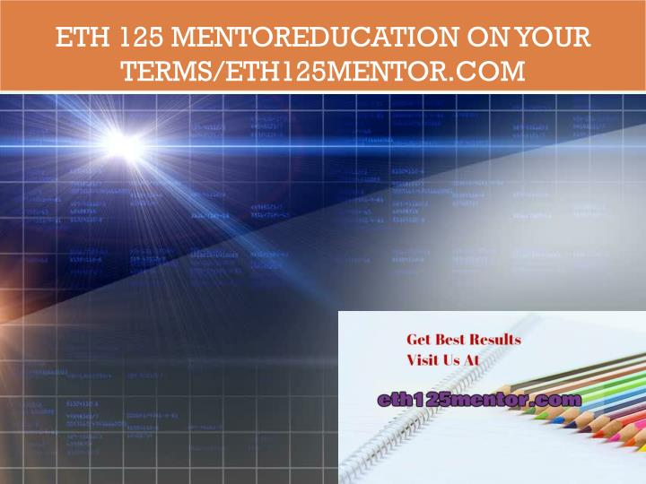 eth 125 week 5 For more course tutorials visit wwwuophelpcom eth 125 week 5 appendix e.