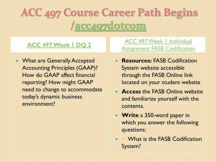 ACC 497 Week 1 DQ 2