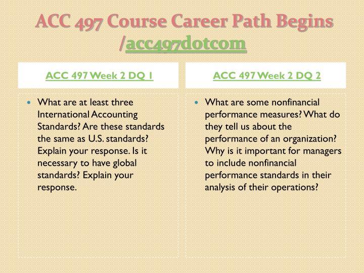 ACC 497 Week 2 DQ 1