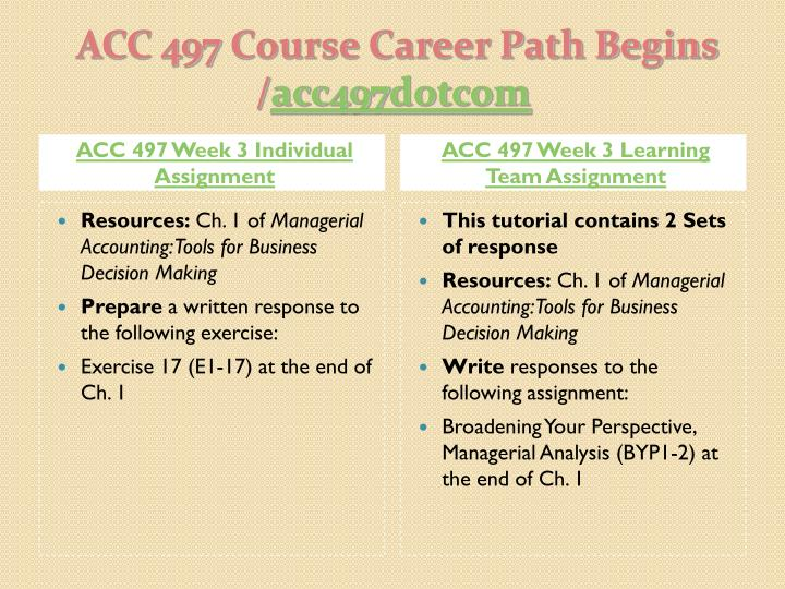 ACC 497 Week 3 Individual Assignment
