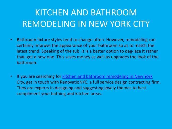 kitchen and bathroom remodeling in new york city