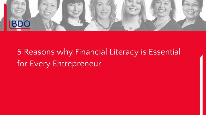 5 Reasons why Financial Literacy is Essential