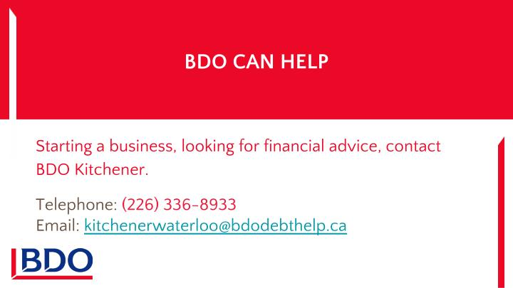 BDO CAN HELP