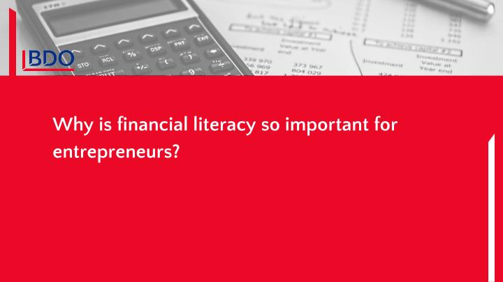 Why is financial literacy so important for