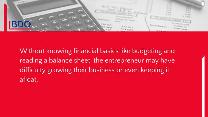 Without knowing financial basics like budgeting and