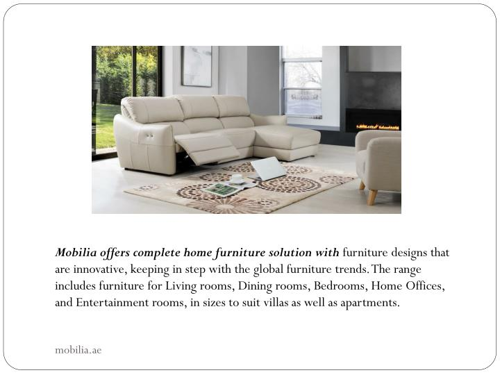 Ppt mobilia furniture coffee tables dubai powerpoint for Mobilia furniture