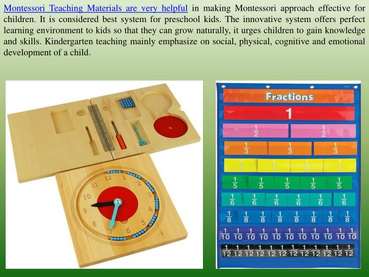 Montessori Teaching Materials are very helpful
