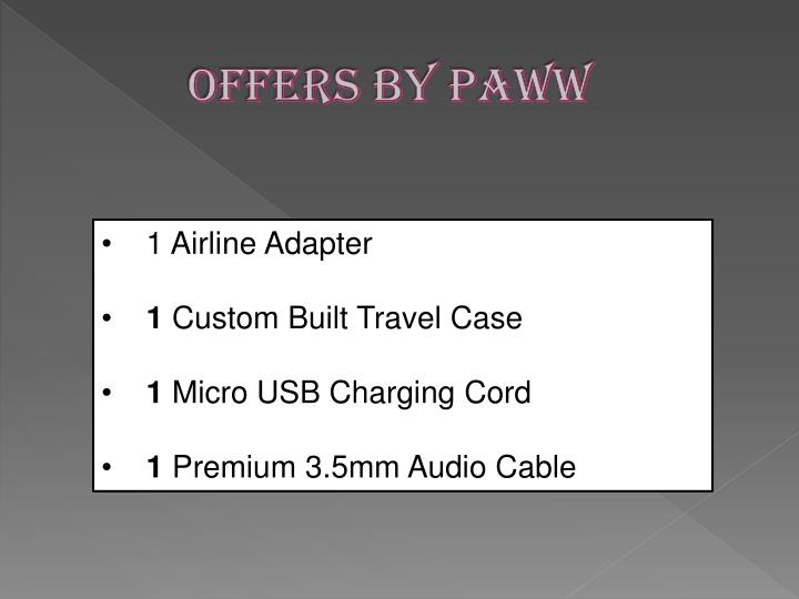 Offers by paww