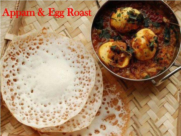 Appam & Egg Roast